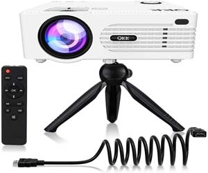 QKK Upgrade 5500Lumens Mini Projector