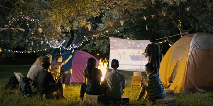 Projector For Camping